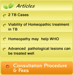 Viability of Homeopathic Treatment in TB : Dr  Goyal's Classical
